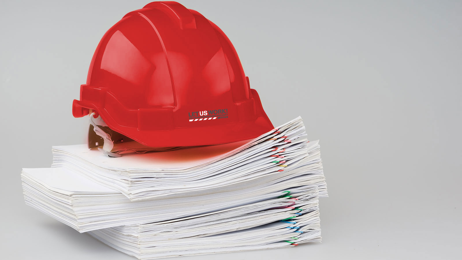 Regulations with red helmet
